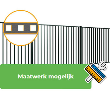 Thibo Bar fencing with square bars type Tyro