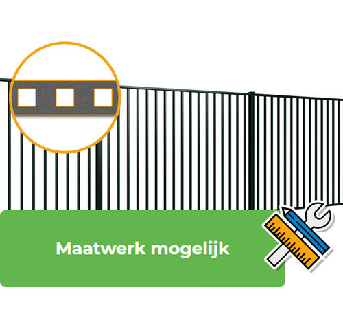 Thibo Bar fencing with square bars type Tyro per meter