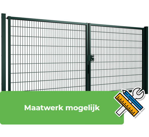 Thibo Double swing gate Minerva with double wire panel filling