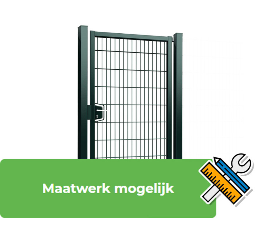 Single Minerva swing gate with double wire panel filling