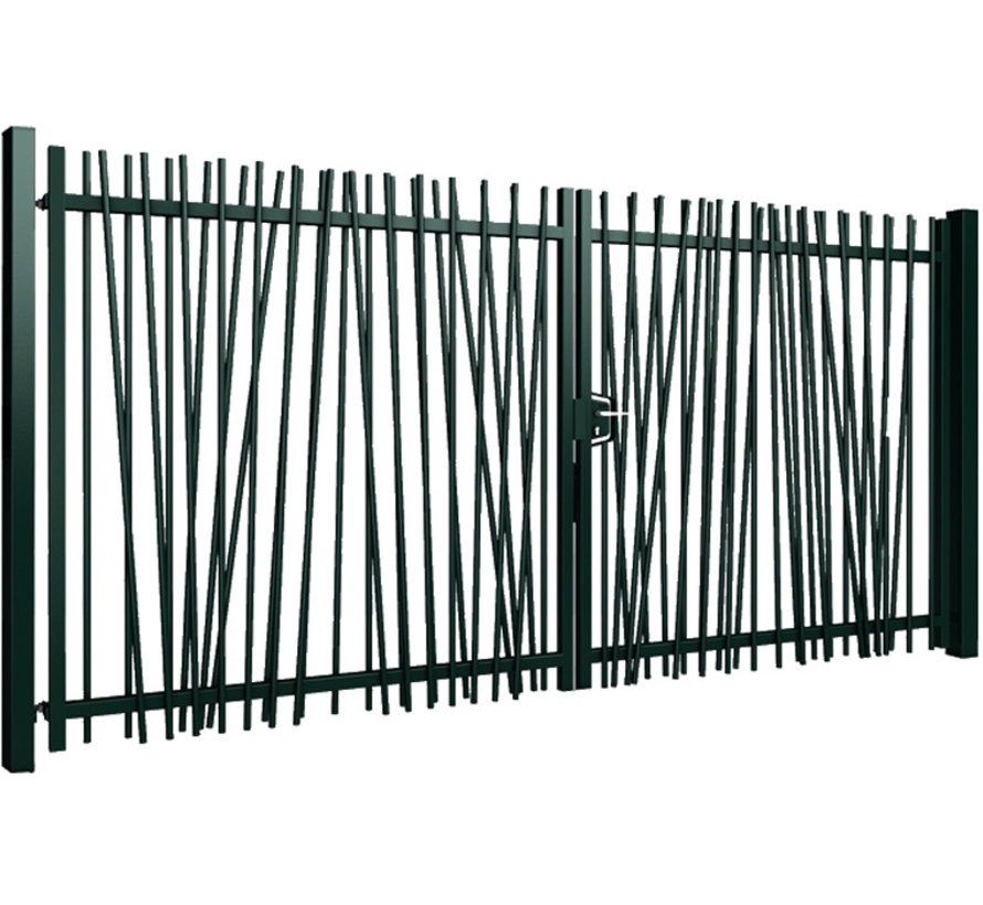 Double swing gate Mykadoo with round bars