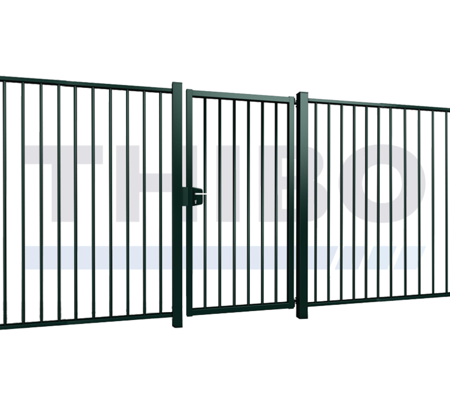 Single Tyro swing gate with square bars