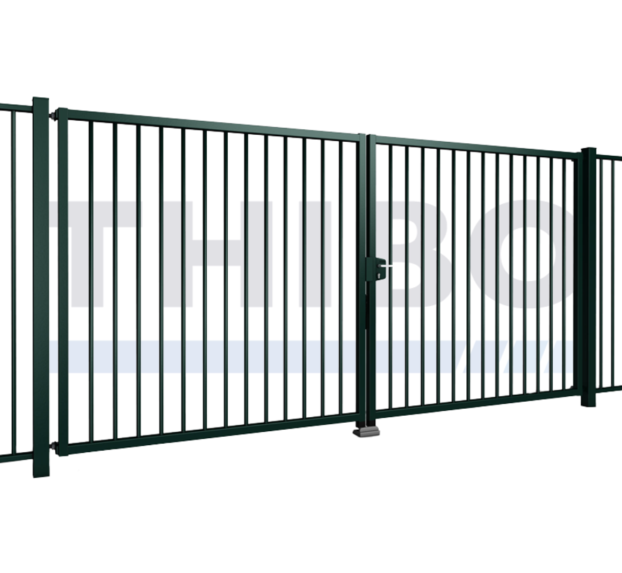 Double swing gate Tyro with square bars