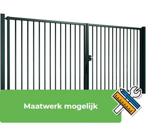 Thibo Double swing gate Tyro with square bars