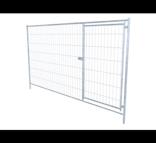 Thibo Galvanized mobile fence, type Apollo 8, with integraded Swing gate