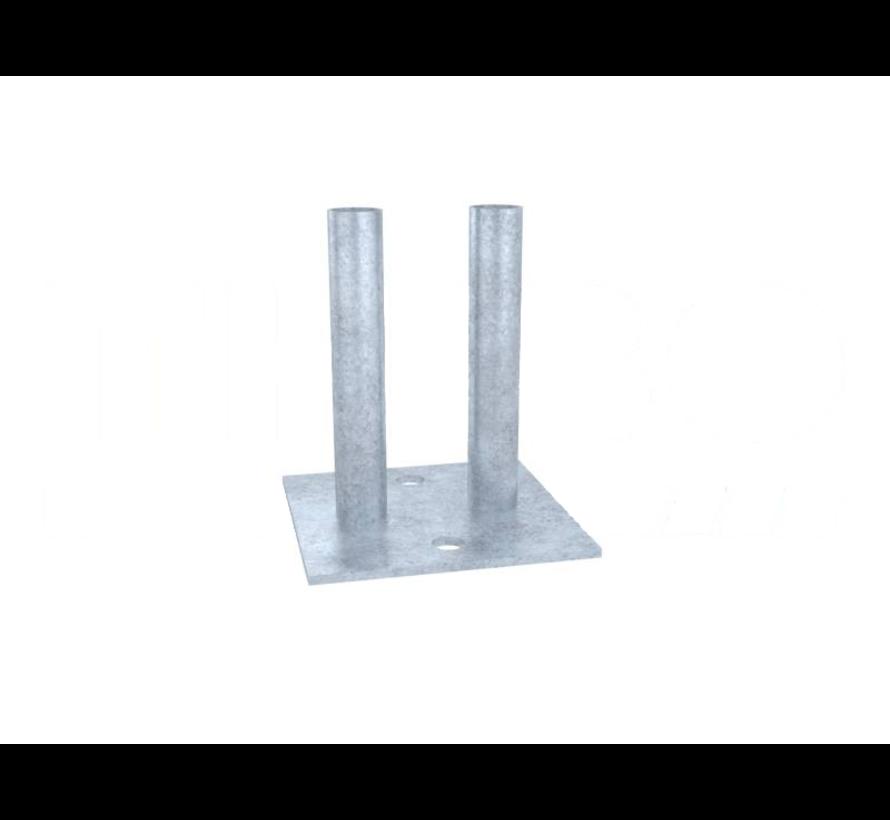 Bouwhek voetplaat klein maat 180x180 mm