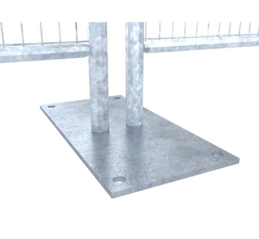 Bouwhek voetplaat groot - 500x250 mm