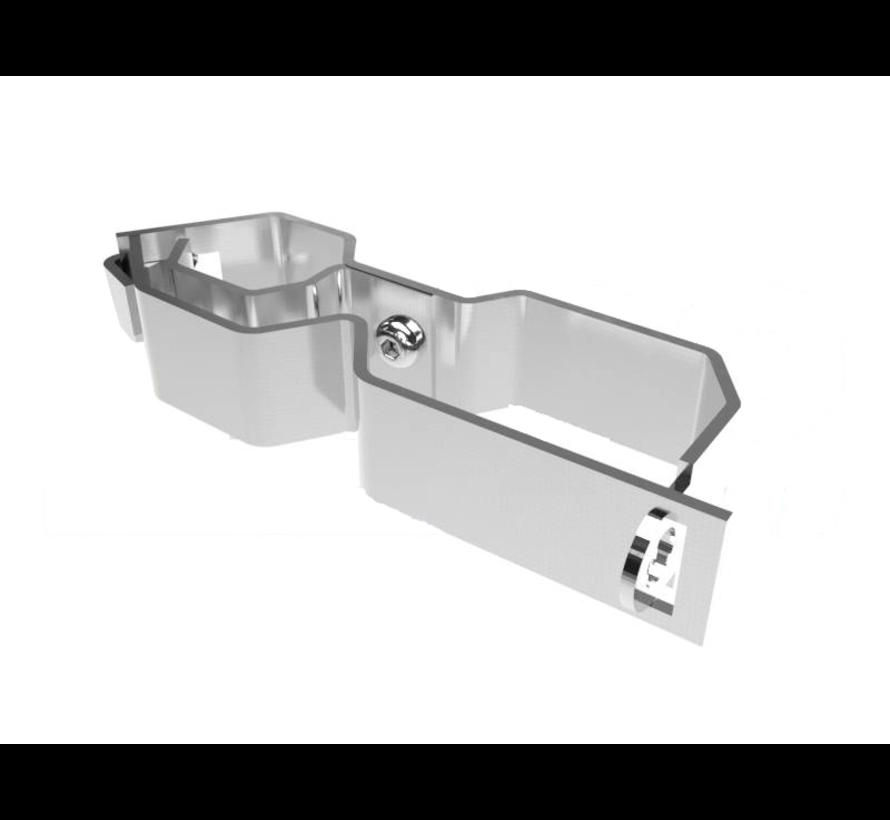 Mobile fence lock bracket (stainless steel)