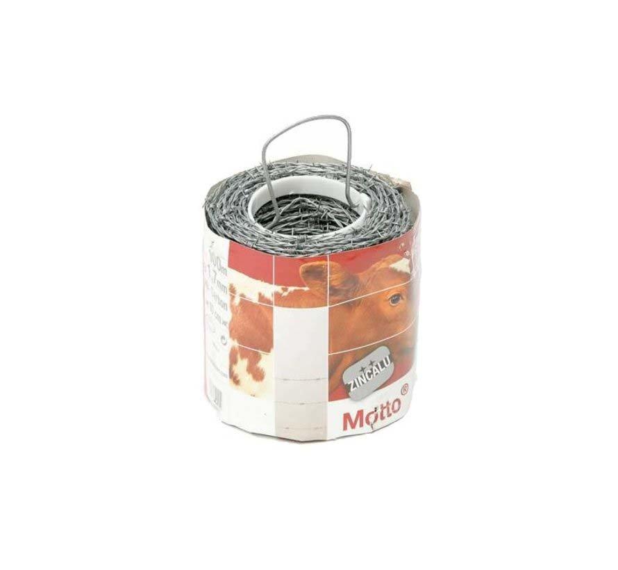 Barbed wire, galvanized (Zinc/Alu)