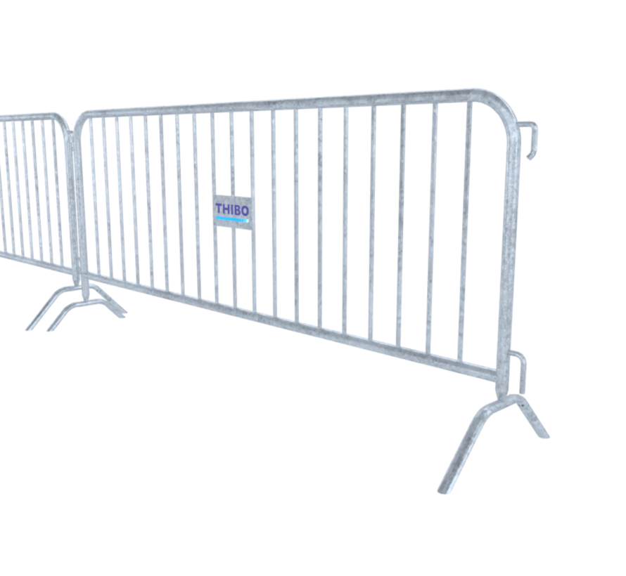 Crush barrier - 19 bars, with nameplate provision