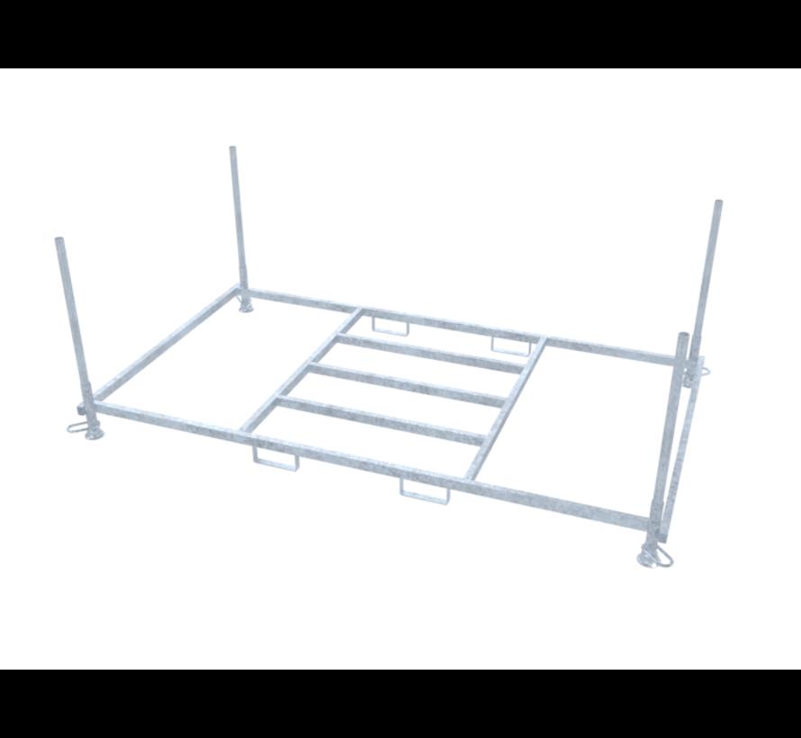Rack for horizontal transport