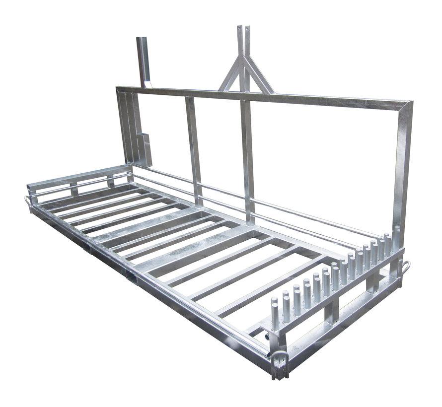 Transportation rack complete mobile fence