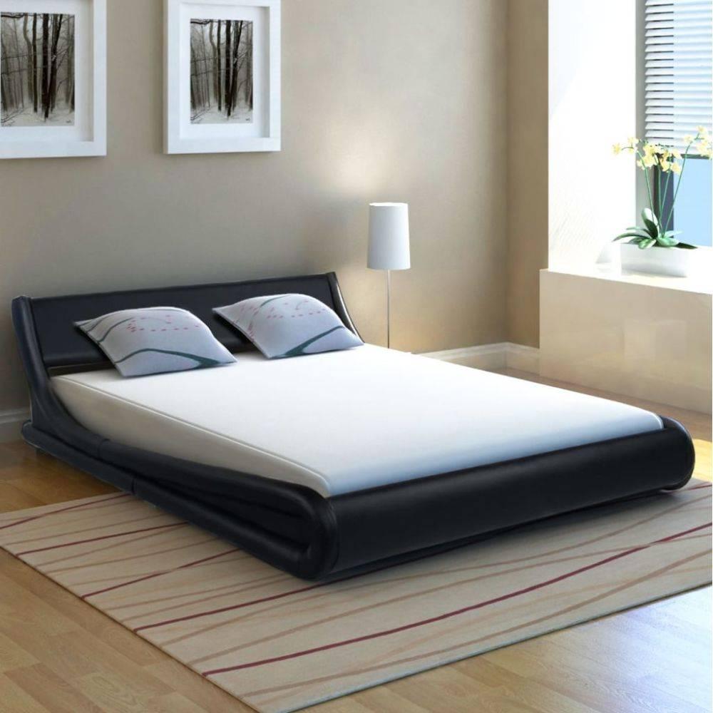 Bed 140x200 Met Matras.Vidaxl Bed Met Matras Kunstleer 140x200 Cm Krul Zwart Huis Tuin Com