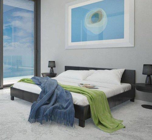 Zwart Bed 140x200.Vidaxl Kunstleren Bed Met Matras 241182 140x200 Cm Zwart Huis