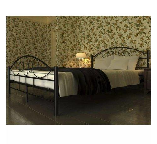 Zwart Bed 140x200.Vidaxl Bed Met Traagschuim Matras Metaal Zwart 140x200 Cm Huis