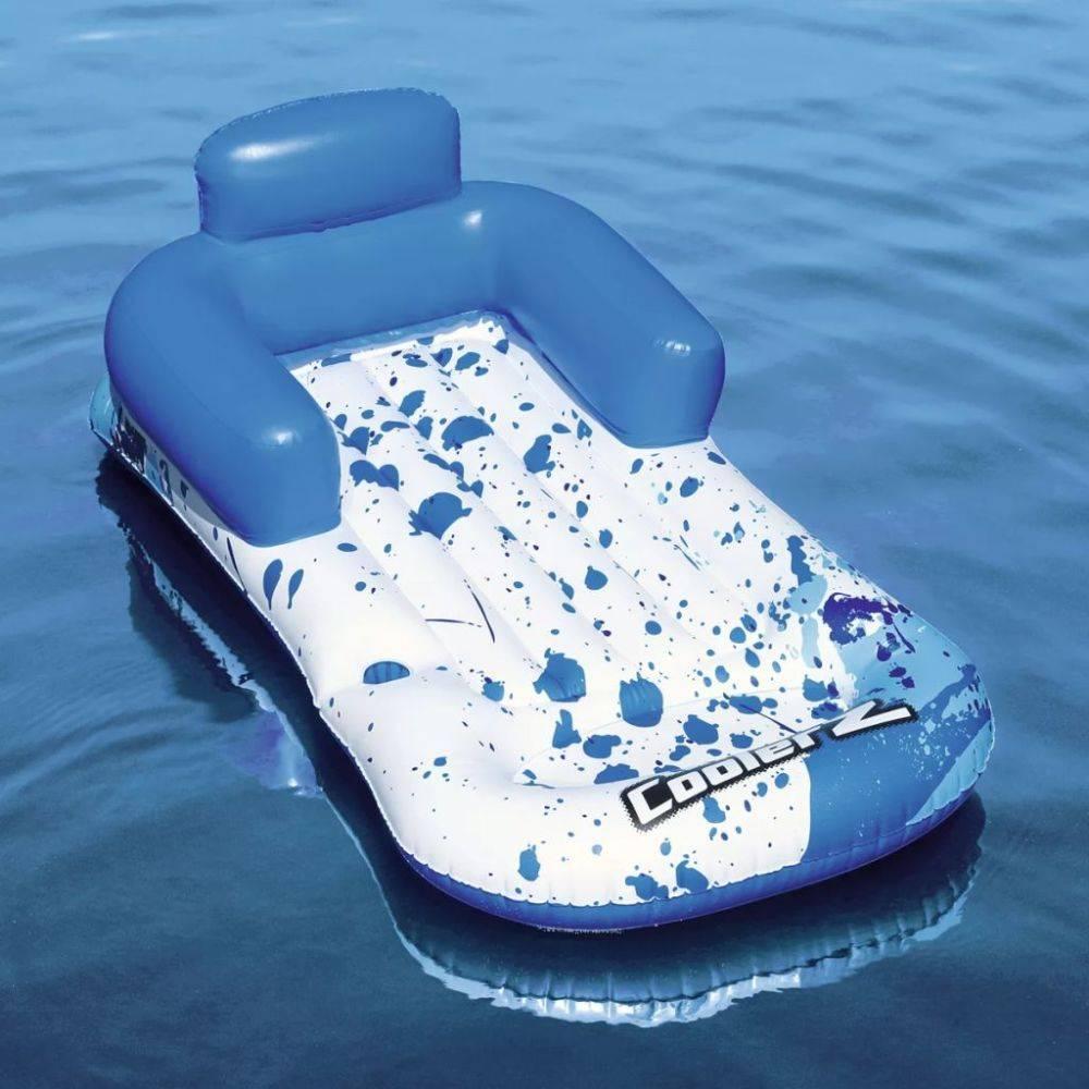 Lounge Stoel Opblaasbaar.Bestway Loungestoel Opblaasbaar Coolerz 84x161 Cm Blauw En Wit