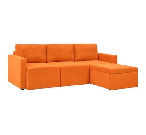 Slaapbank 3 Zits.Vidaxl Slaapbank Uittrekbaar 3 Zits Oranje Huis Tuin Com