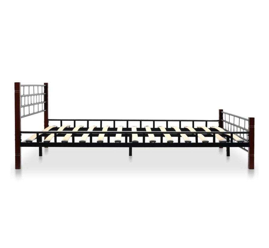 Zwart Bed 140x200.Vidaxl Bed Met Matras Metaal Zwart 140x200 Cm Huis Tuin Com