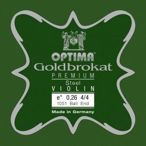 Lenzner Optima Cordes pour violon Lenzner Optima Goldbrokat Premium