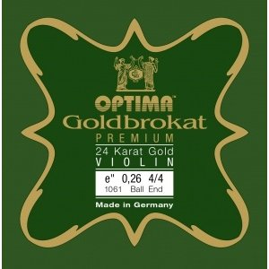 Lenzner Optima Cordes pour violon Lenzner Optima Goldbrokat Premium Gold 24K
