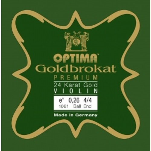 Lenzner Optima Violin strings Lenzner Optima Goldbrokat Premium Gold 24K