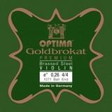 Violin strings Lenzner Optima Goldbrokat Premium Brass