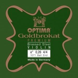 Lenzner Optima Cordes pour violon Lenzner Optima Goldbrokat Premium Brass