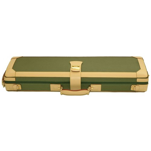 GL Cases Violin case GL denim-leather green-beige