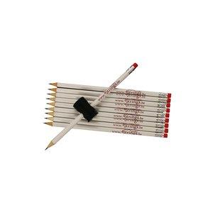 Potloden 4strings set 10x met magnetische potloodhouder
