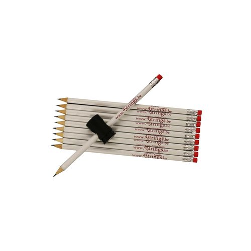 Pencils 4strings set 10x with magnetic pencil holder