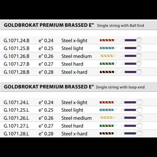 Lenzner Optima Violin strings Lenzner Optima Goldbrokat Premium Brass