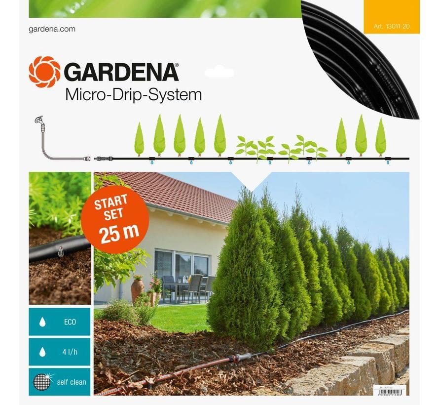 Gardena Micro Drip startset voor rijplanten en heggen - 25m