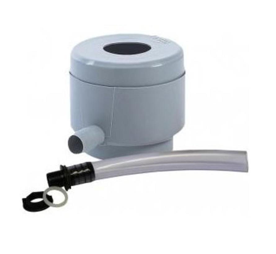 Regenton vulautomaat met bladfilter 70/100 mm
