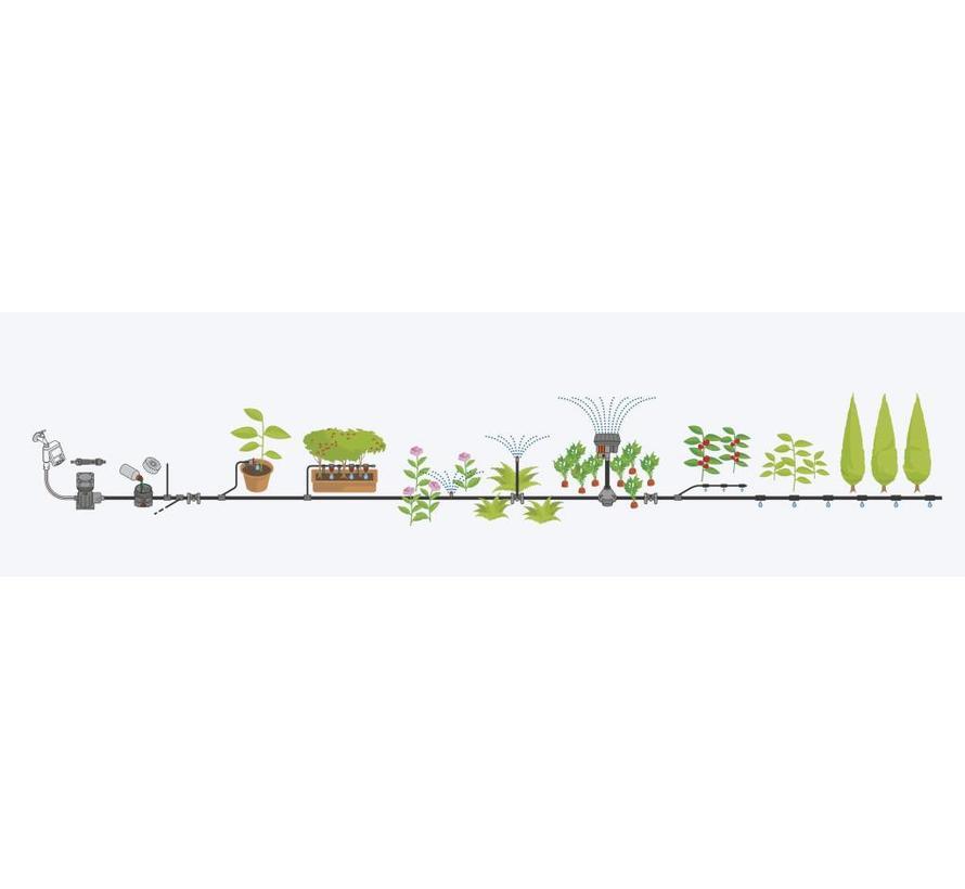 Gardena Micro Drip startset voor rijplanten en heggen - 25m auto