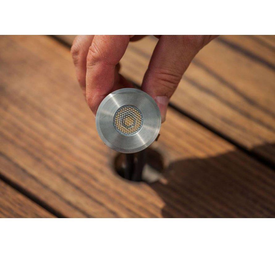 Heissner Smart Light vlonderverlichting 1W warm wit RVS