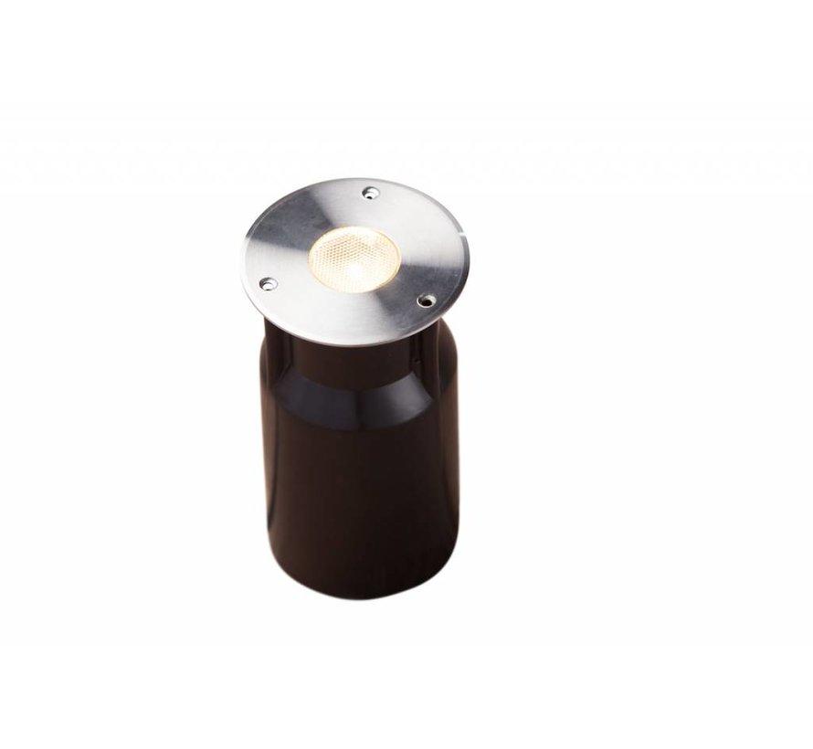 Smart Light vlonderverlichting 3W warm wit RVS