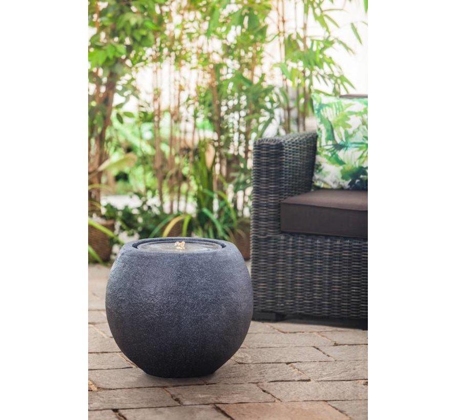 Terras fontein ball LED zwart