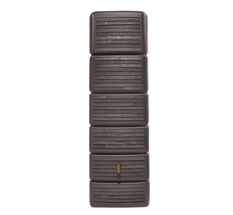 SLIM wandtank 300 l. wood decor dark