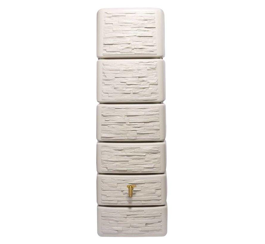 SLIM wandtank 300 ltr stone decor beige