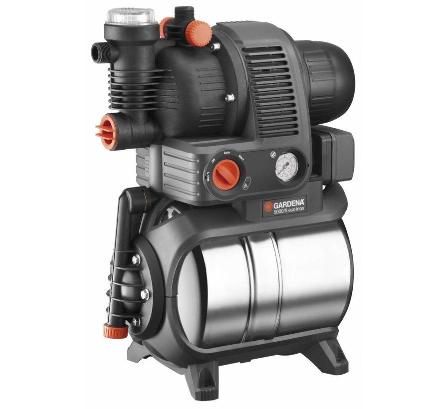 Gardena Premium hydrofoorpomp met watertank 5000/5 eco inox