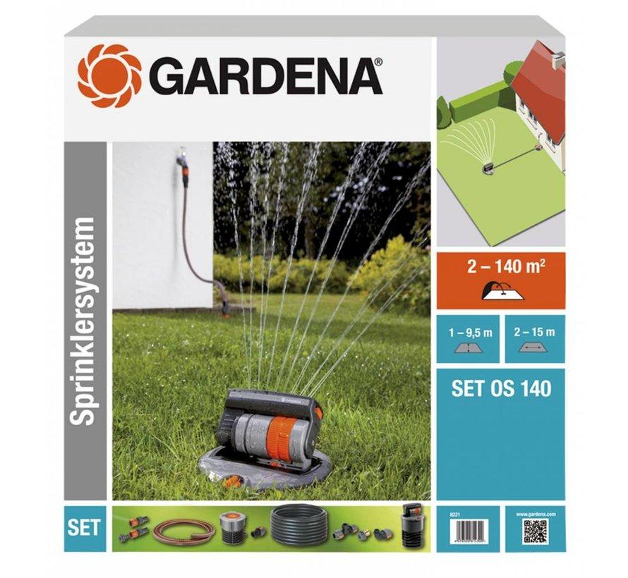 Gardena complete set met verzonken zwenksproeier OS 140
