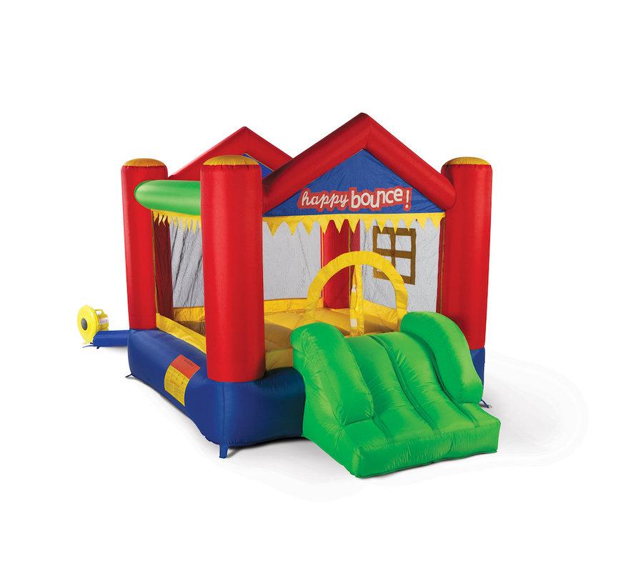 Klein springkussen voor in de tuin: Avyna Party House Fun 3-1