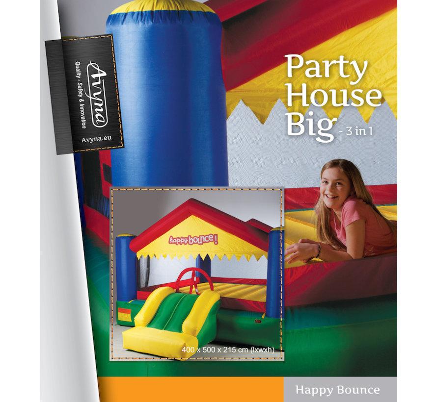 Springkussen met glijbaan: de Avyna Party House Big 2-1