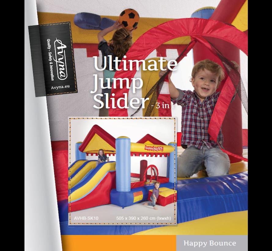 Springkussen-kasteel: Avyna Ultimate Jump Slider 3-1