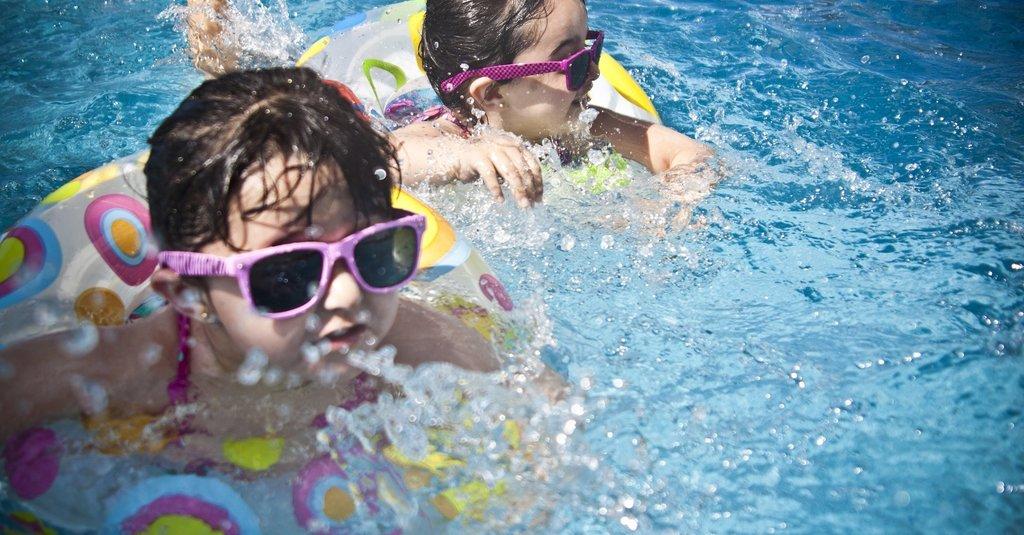 Zwembad in de tuin. Gewoon omdat het kan.