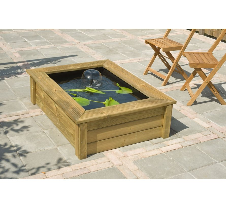 Quadro wood II houten FSC frame voor Quadro 6 H47,5x147,5x103,5cm