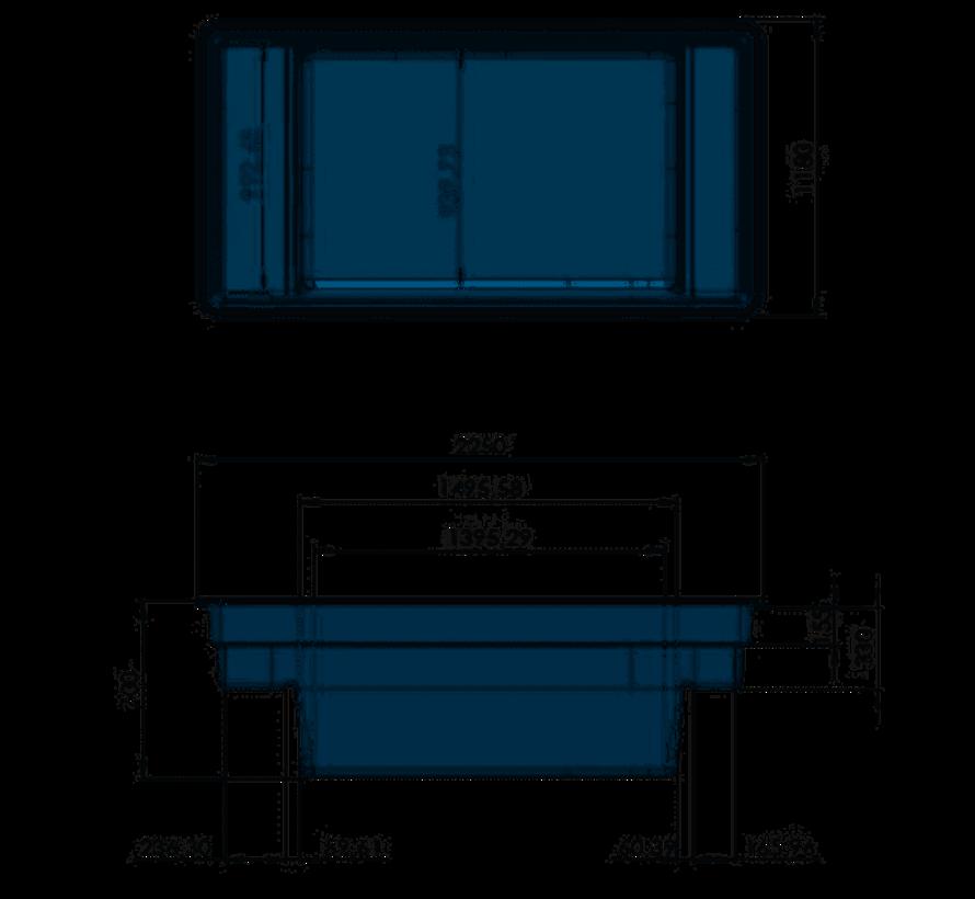 Quadra C2, inhoud 1500 liter