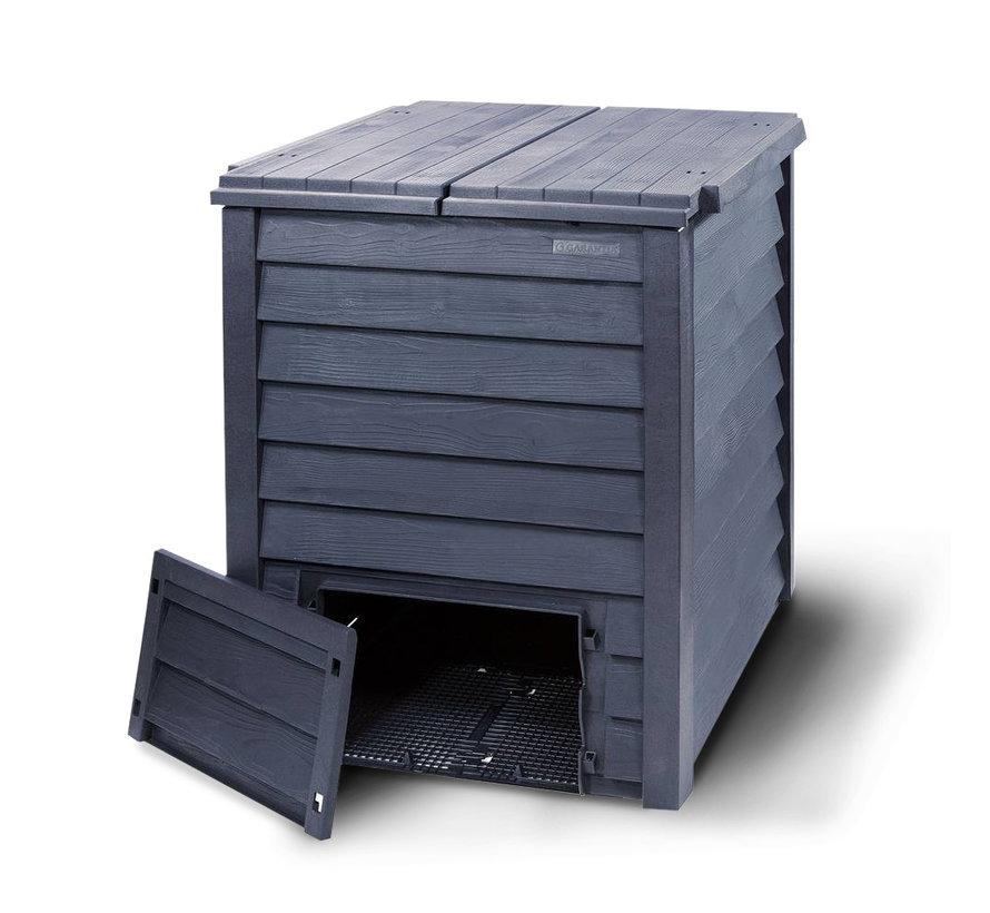 Compostvat Thermo-Wood 600 bruin-zwart beluchting