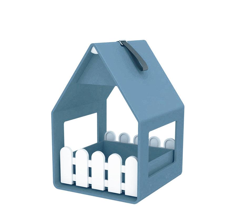 Landhaus Vogelvoederhuis grijsblauw