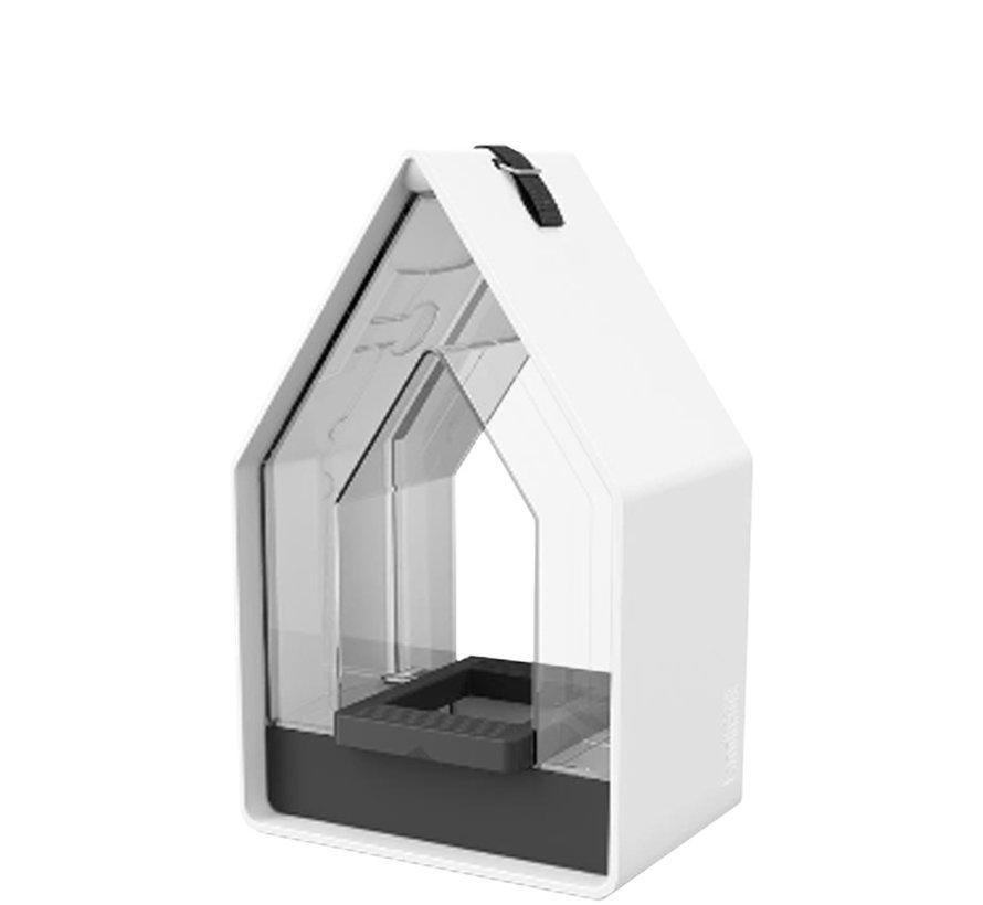 Landhaus Vogelvoeder dispenser wit